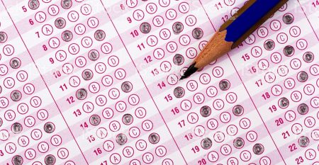 optical form of an examinationoptical form of an examination with pencil